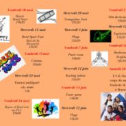 Activités ADOS de mai et juin 2019